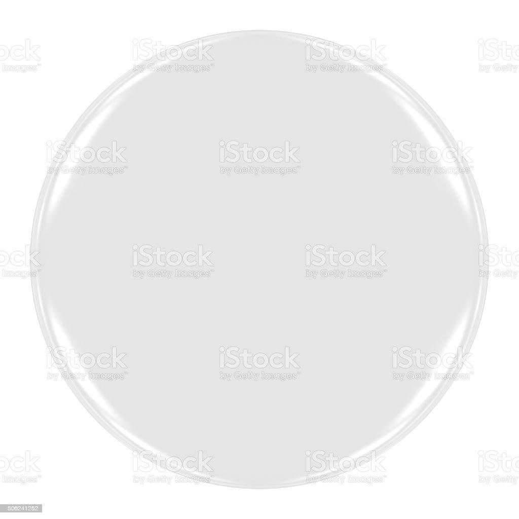 Blank White Badge Isolated on White stock photo
