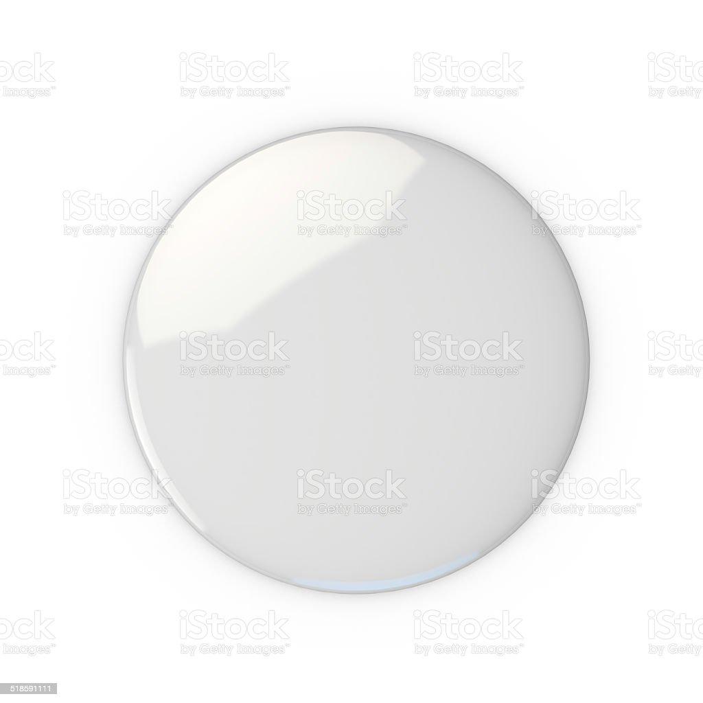 Blank white badge stock photo