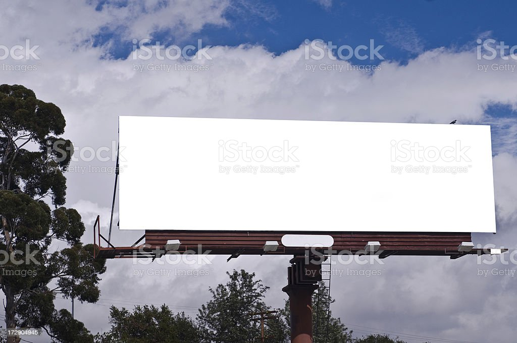 Blank, white billboard royalty-free stock photo