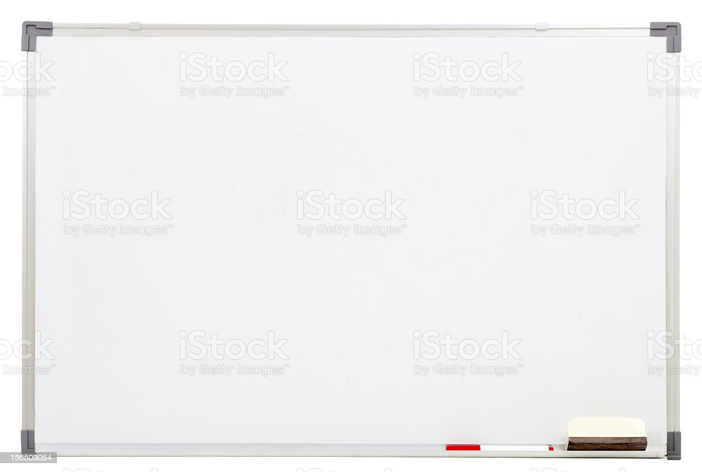 blank white board isolated royalty-free stock photo