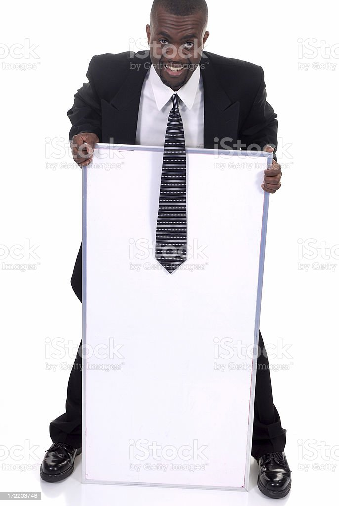 Blank white board royalty-free stock photo