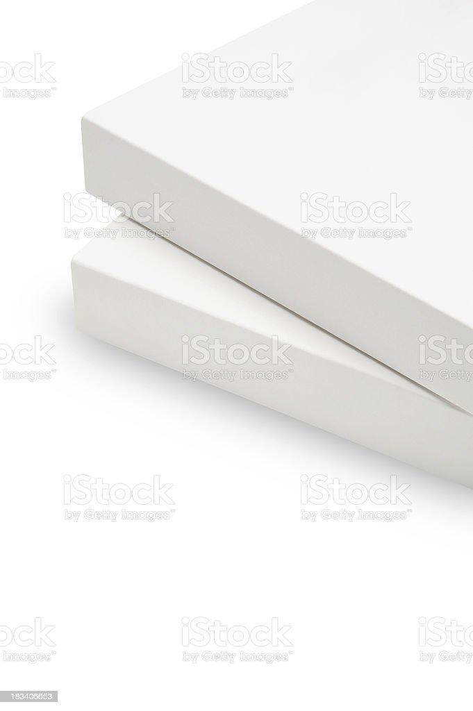 Blank white book stock photo