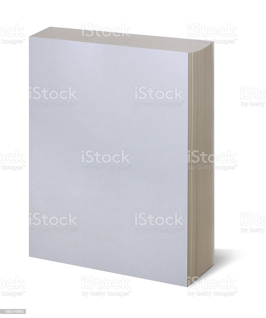 Blank white book royalty-free stock photo