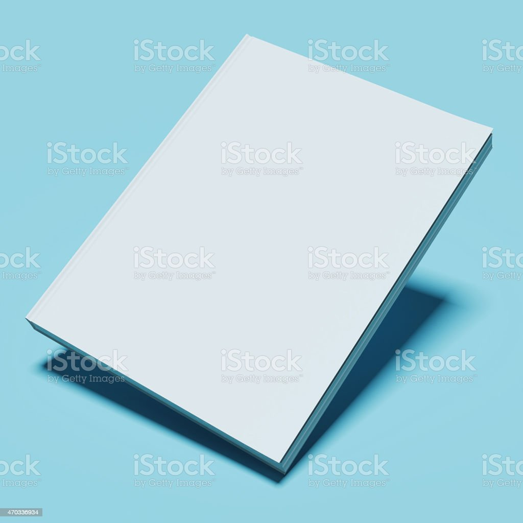Blank white book stock photo