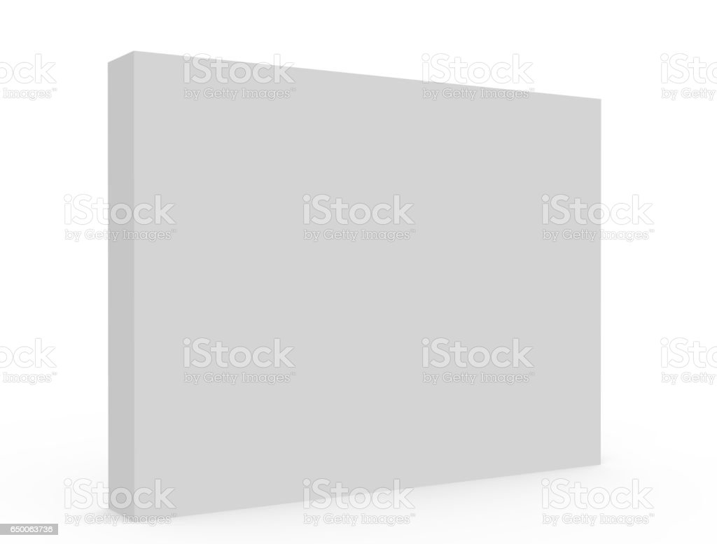 blank white box model stock photo