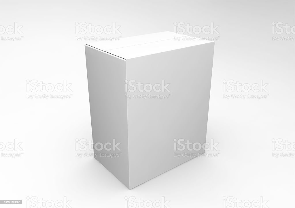 Blank White Box royalty-free stock photo