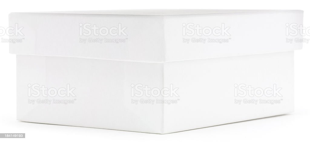 Blank white box with lid ready for label royalty-free stock photo