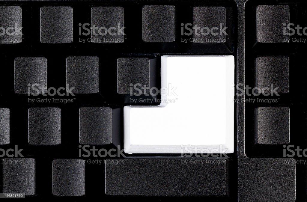 Blank White Button Enter Keyboard stock photo