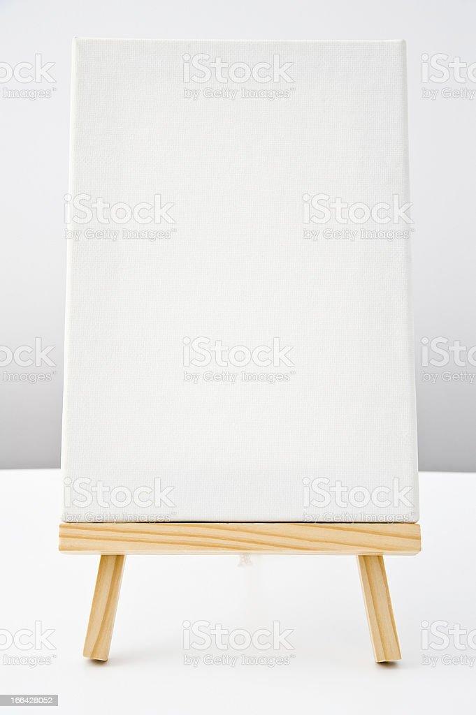 blank white canvas royalty-free stock photo
