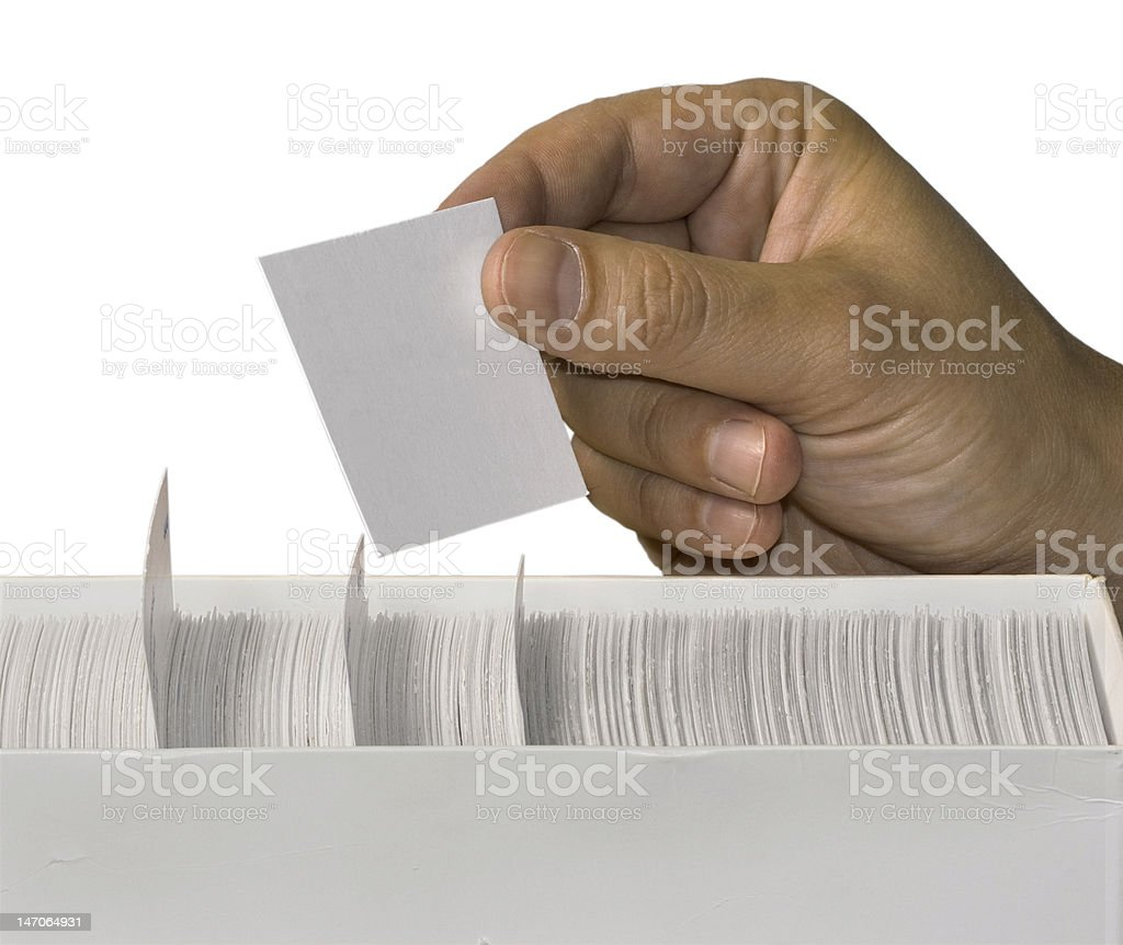 blank white card in hand royalty-free stock photo