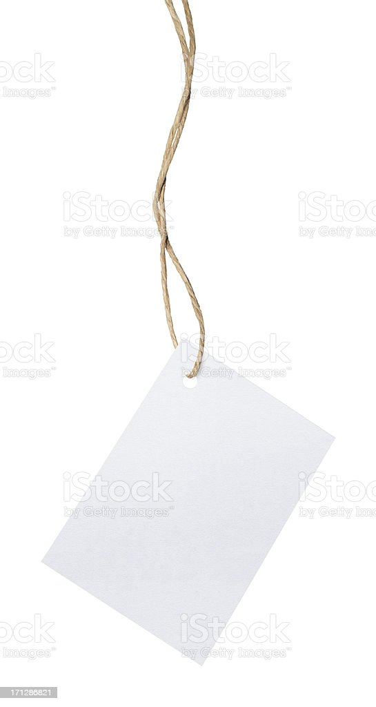 Blank White Card (Clipping Path) royalty-free stock photo