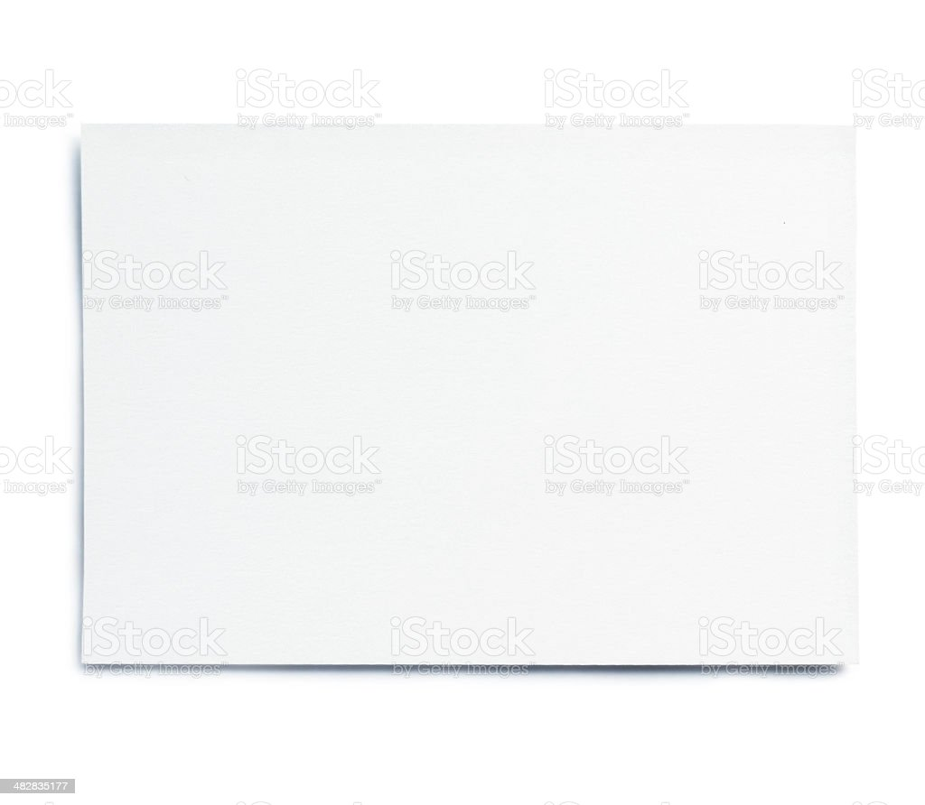 blank white card stock photo
