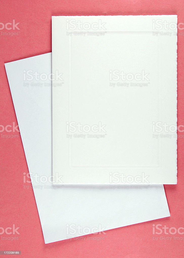 Blank white card with envelope royalty-free stock photo