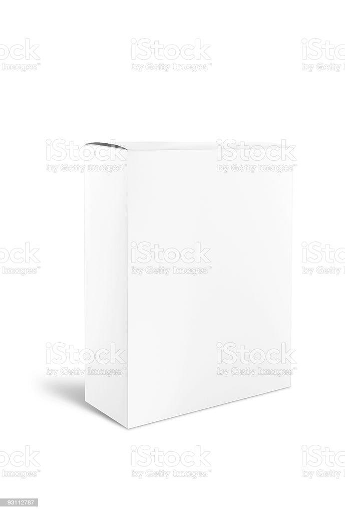 Blank White Cardboard Product Box royalty-free stock photo