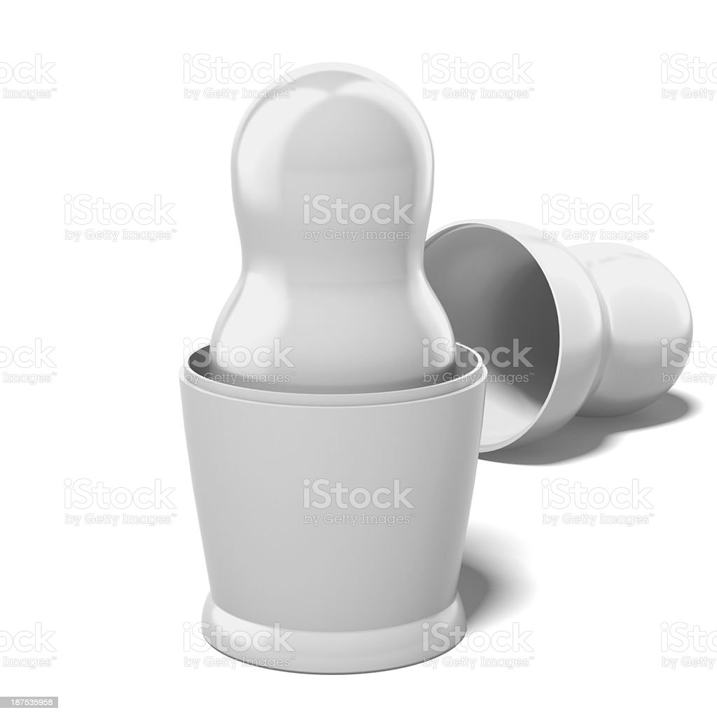 blank white doll in another royalty-free stock photo