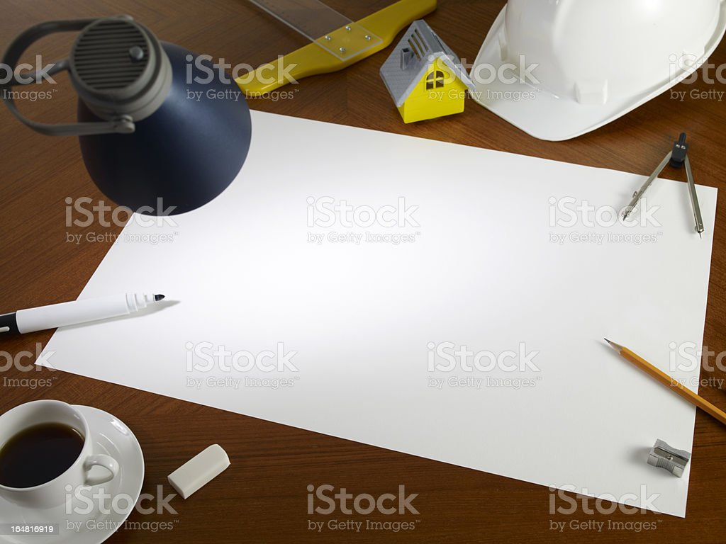Blank White Empty Paper royalty-free stock photo