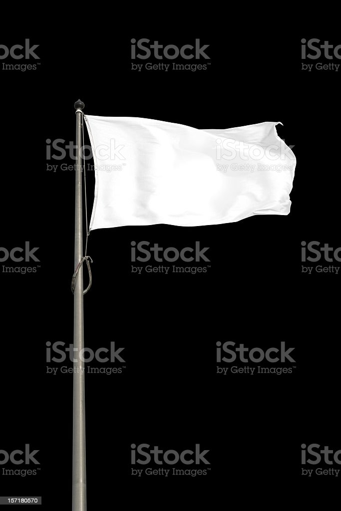 Blank White Flag stock photo