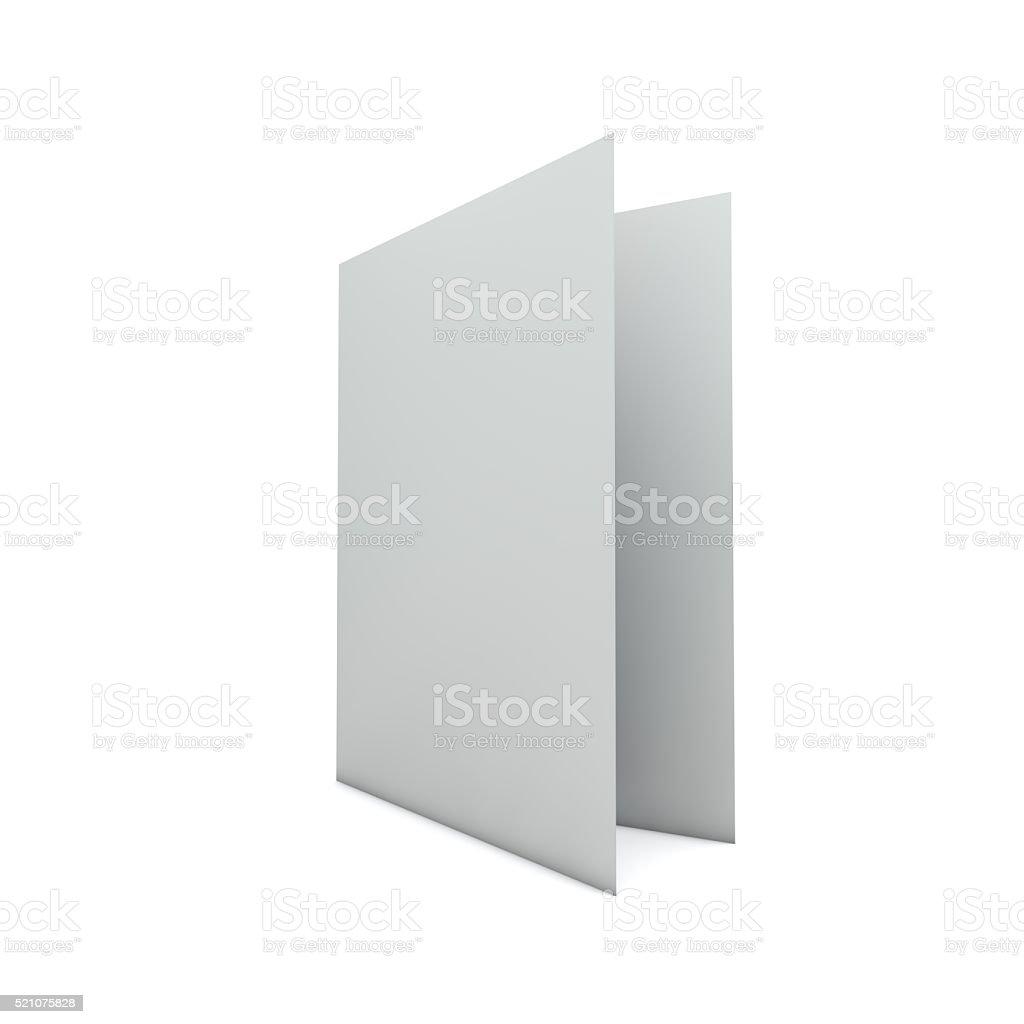 Blank white folded card stock photo