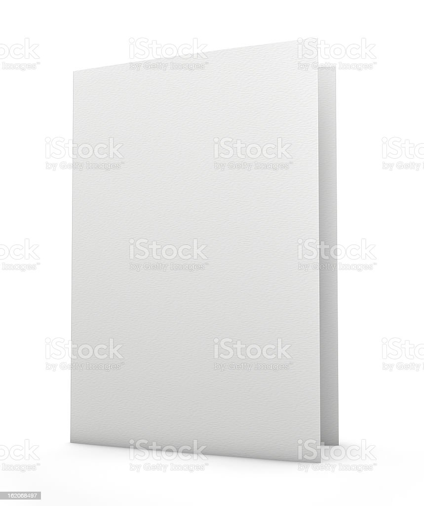 A blank white folder in a white background stock photo