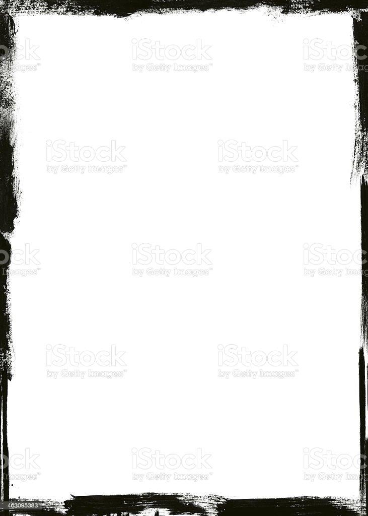 A blank white grunge frame background stock photo
