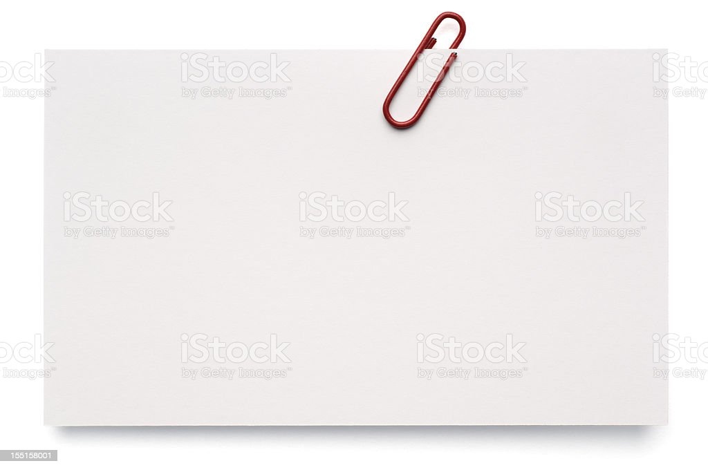 Blank White Index Card royalty-free stock photo