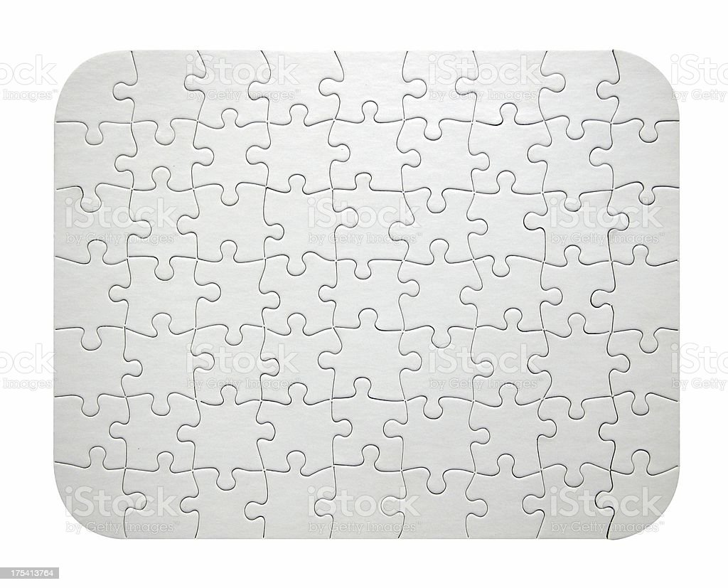 Blank White Jigsaw Puzzle stock photo