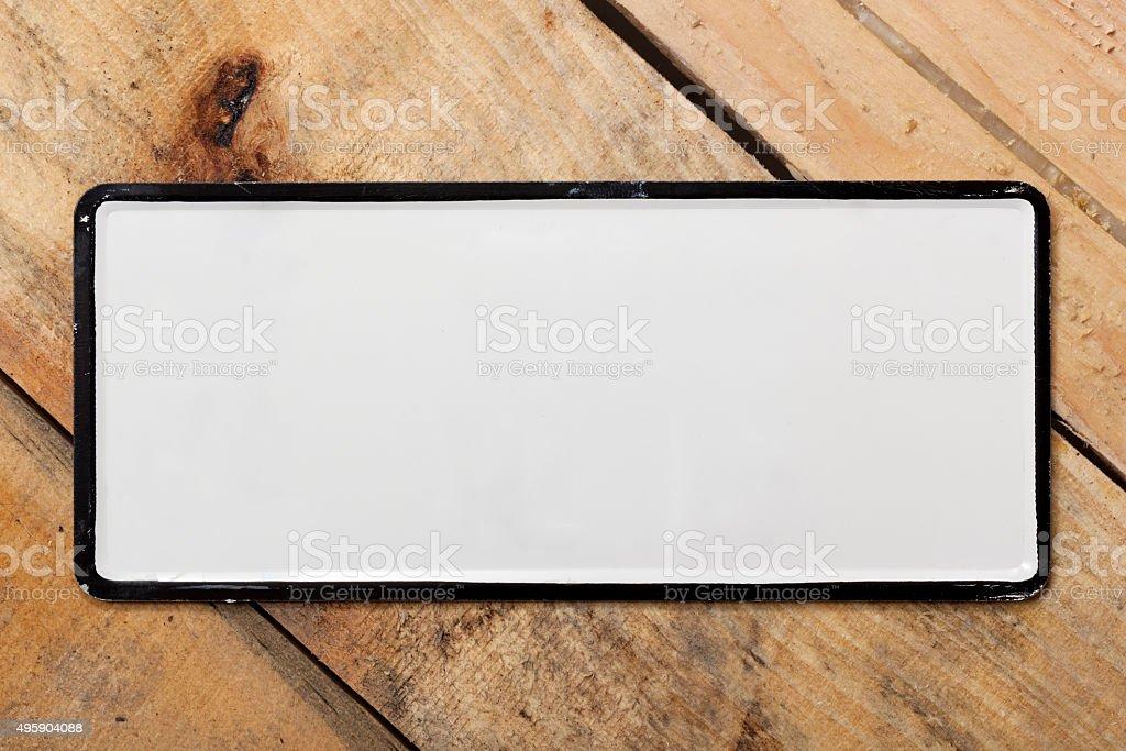 Blank White Metal stock photo