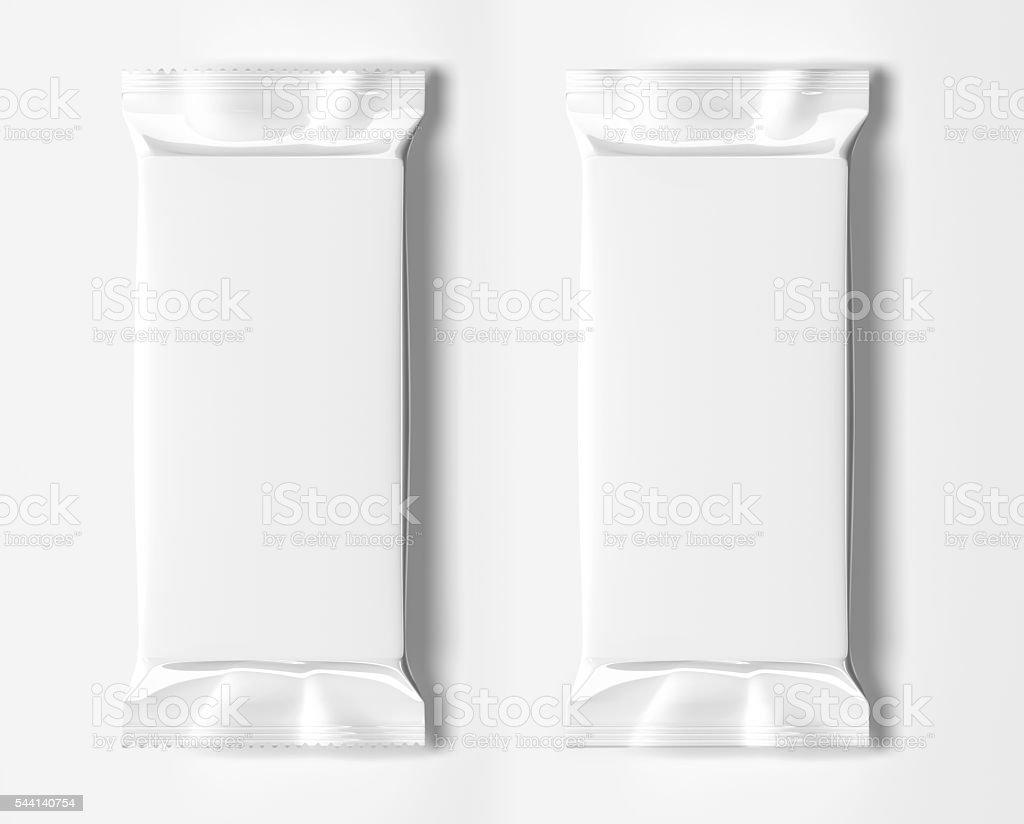 Blank white packaging stock photo