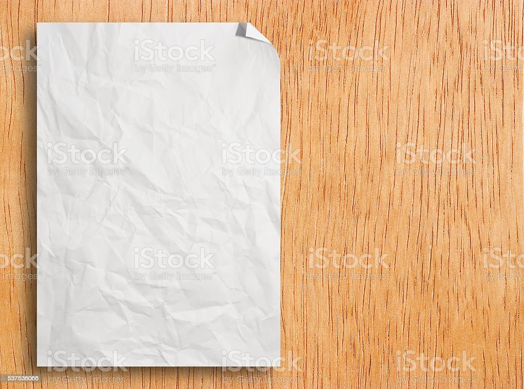 Blank white paper catalog stock photo