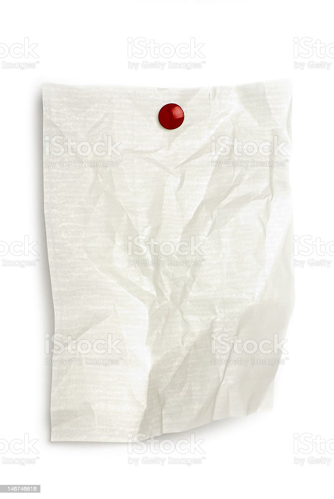 Blank white paper on solated background royalty-free stock photo