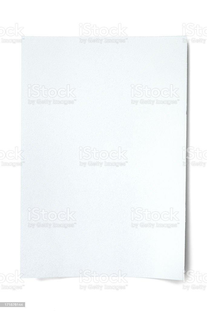 Blank white paper (xxxL 36MP) royalty-free stock photo