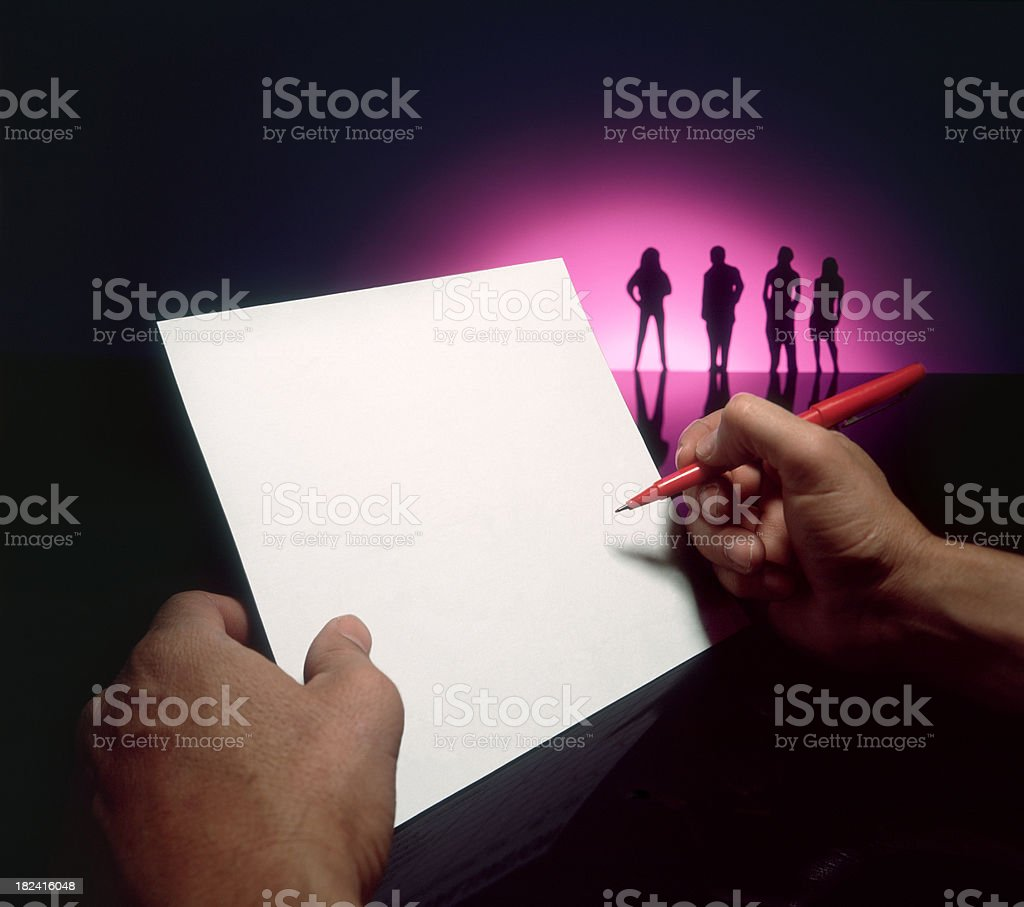 Blank White Paper royalty-free stock photo