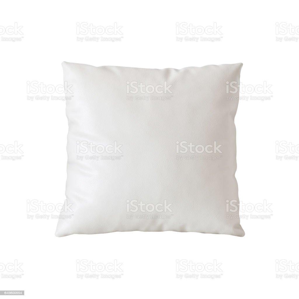 Blank white pillow case stock photo