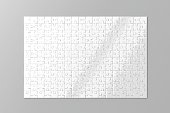 Blank white puzzles game mockup