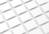Blank white rectangles field for web site design mockup