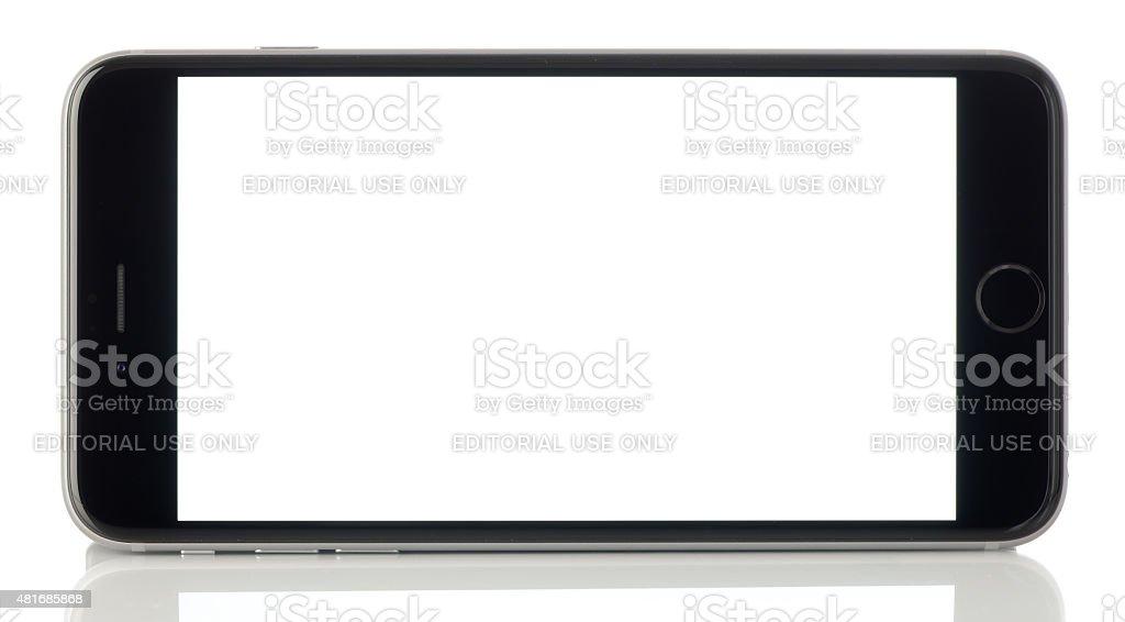 Blank white screen iPhone 6 Plus stock photo