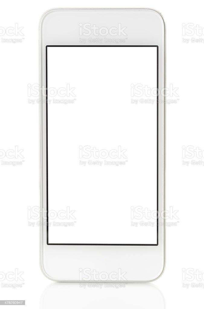 Blank white screen smart phone royalty-free stock photo