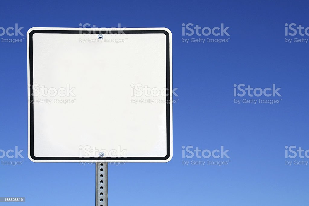 Blank White Sign stock photo