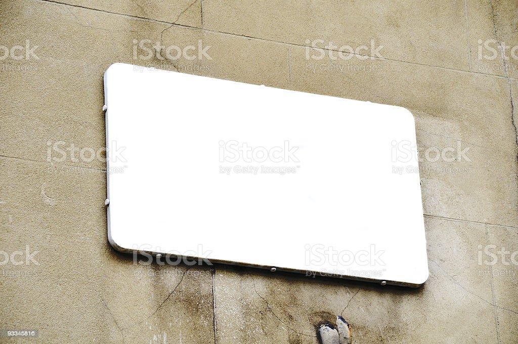 Blank white sign royalty-free stock photo