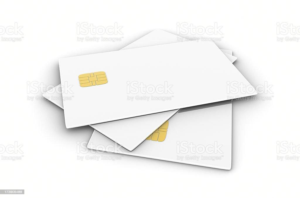 Blank White Smart Card royalty-free stock photo