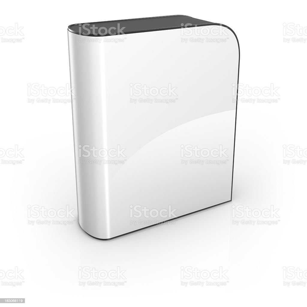 Blank white software box stock photo