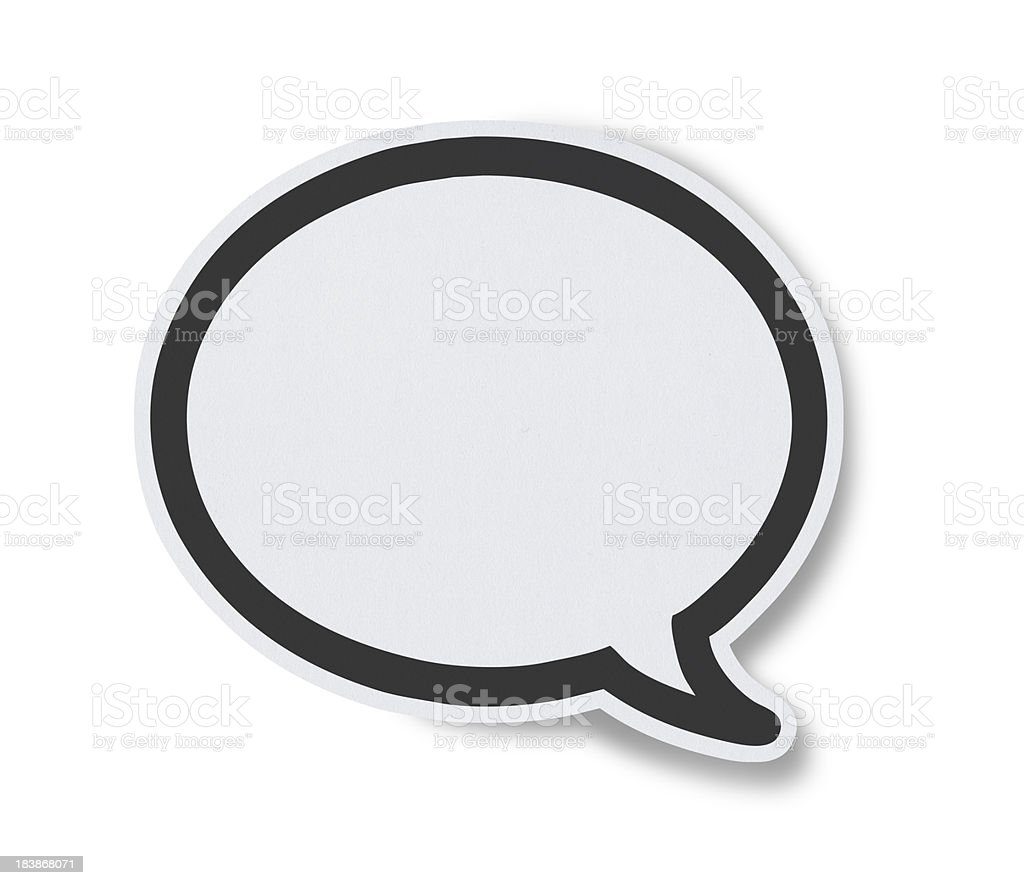 Blank White Speech Bubbles royalty-free stock photo