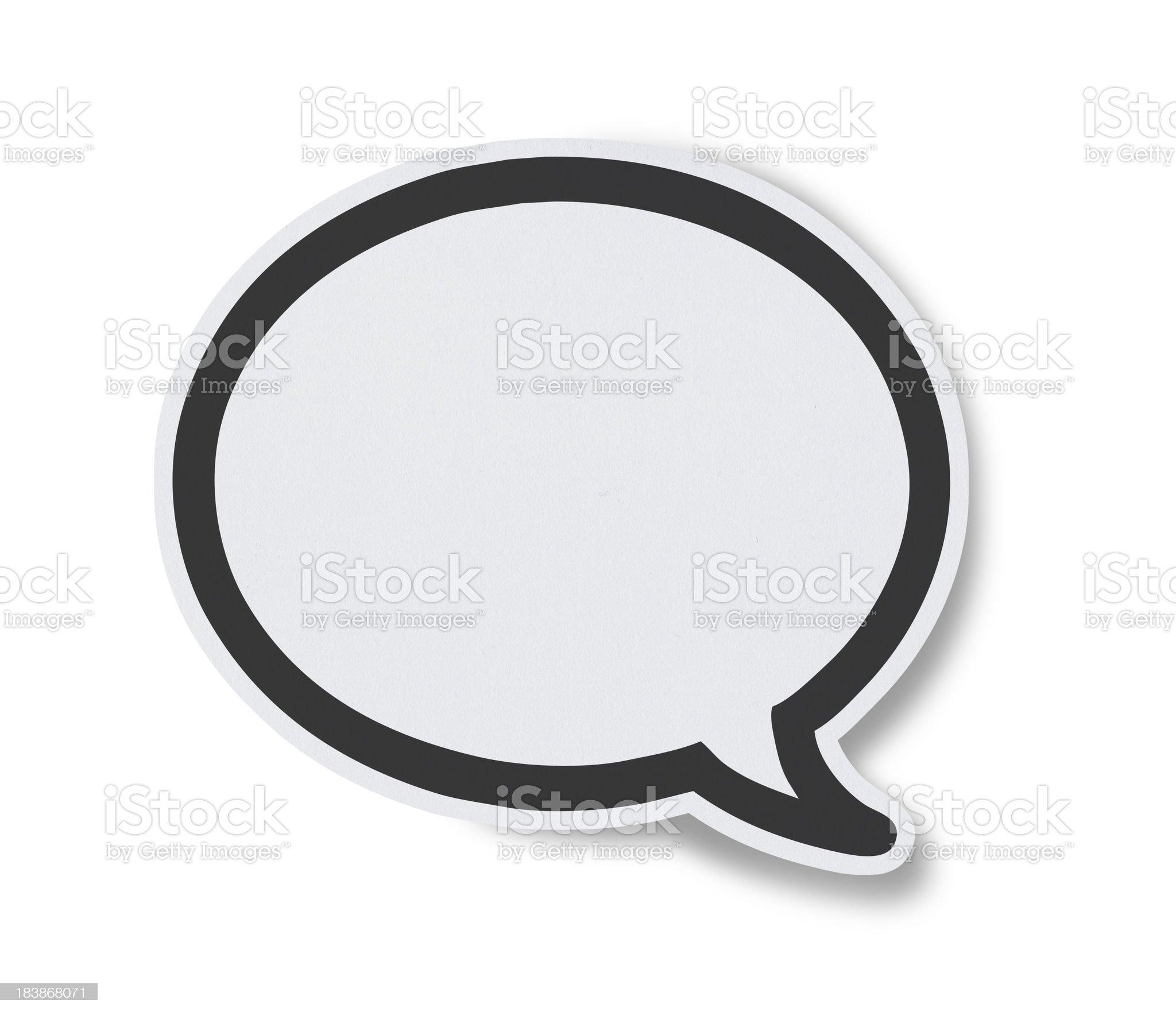 Blank White Speech Bubbles royalty-free stock photo