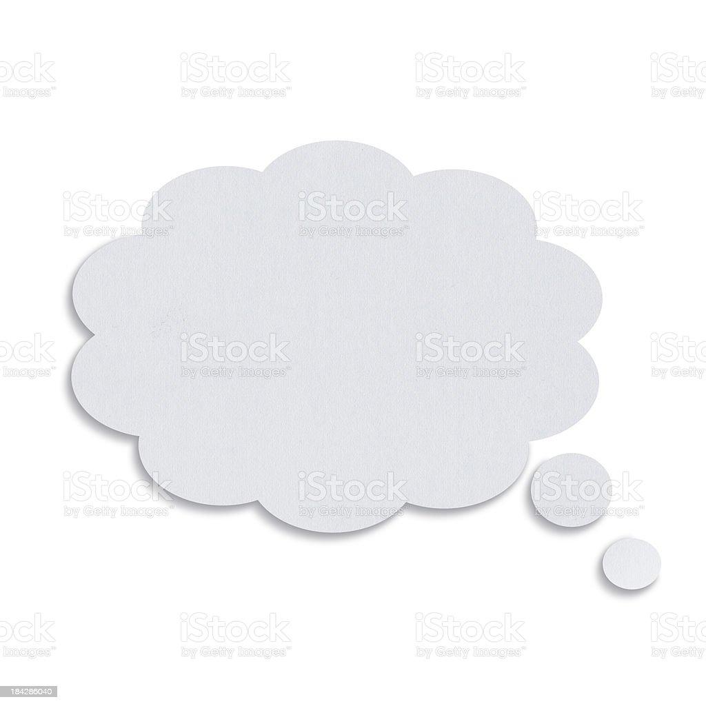 Blank White Speech Bubbles stock photo