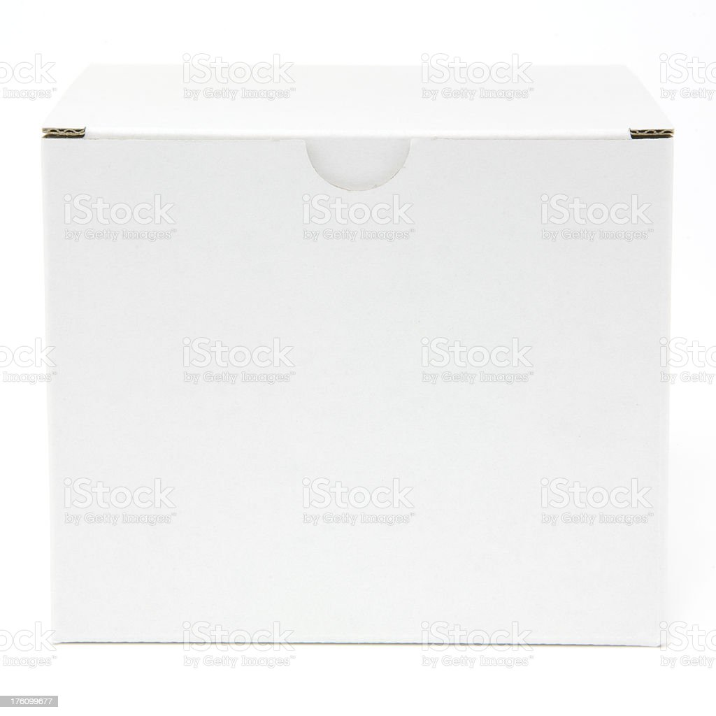 Blank white square carton isolated royalty-free stock photo