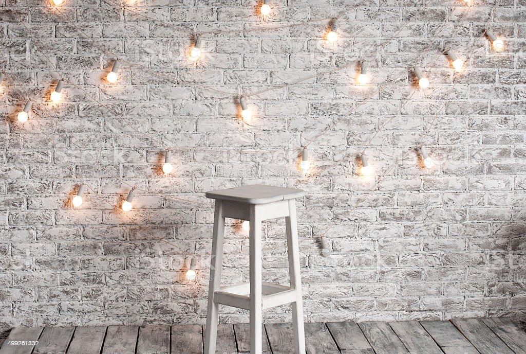 Blank white stool stock photo