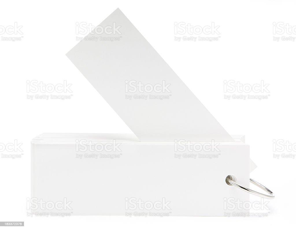 Blank white swatch book stock photo