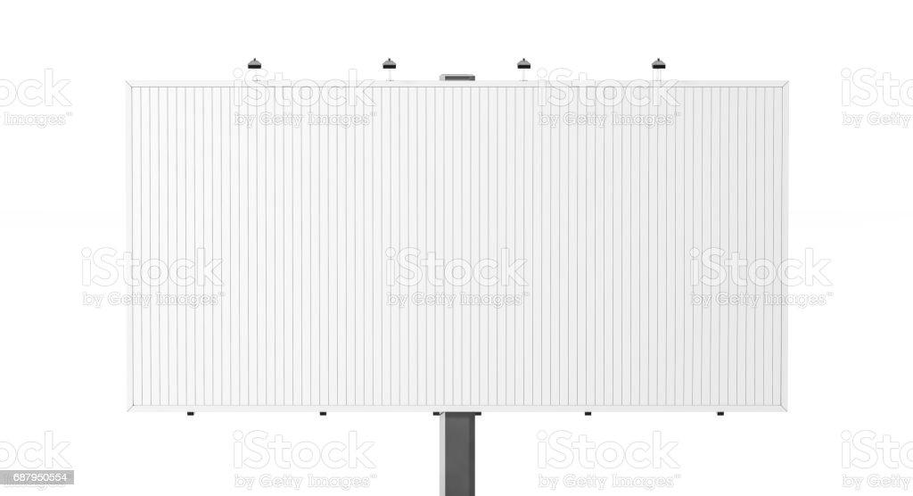 Blank white trivision billboard mock up stock photo