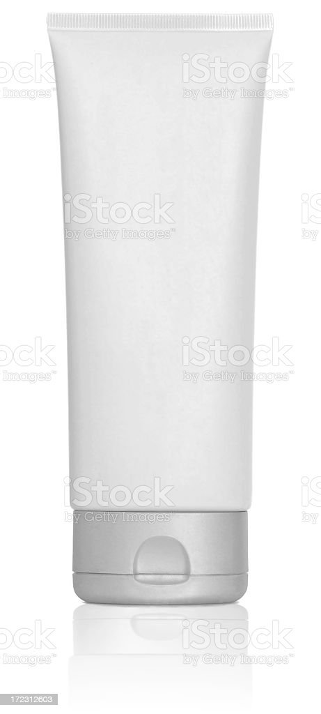 Blank white tube / bottle royalty-free stock photo