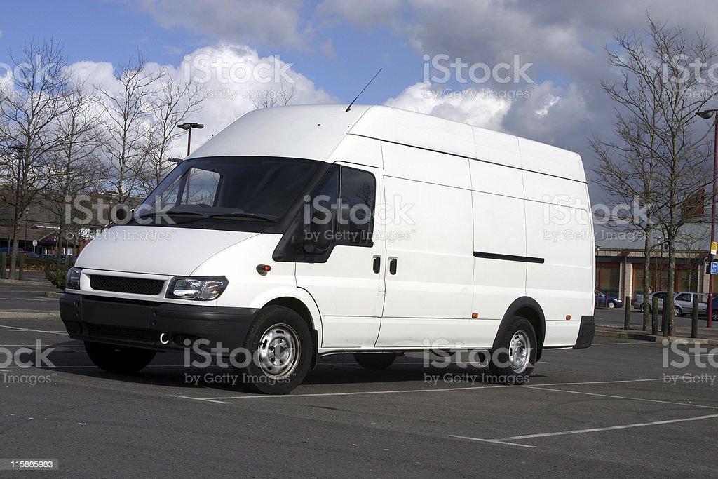Blank white van royalty-free stock photo